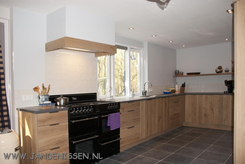 Massief eiken planken keuken en interieurs op maakt gemaakt